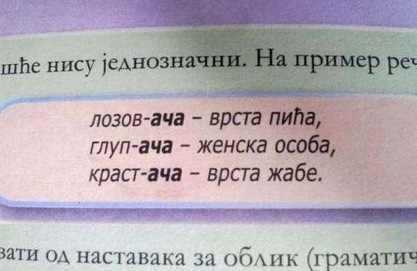 udžbeniku za srpski jezik za šesti razred osnovne škole čiji je