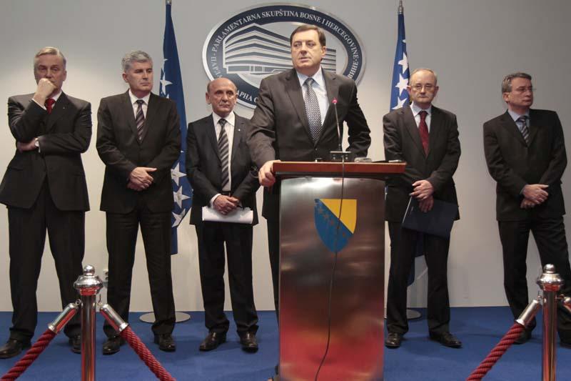 Na današnjem sastanku stranačkih lidera šest vladajućih stranaka u BiH je postignut dogovor o formiranju Vijeća ministara/ Foto: DEPO PORTAL